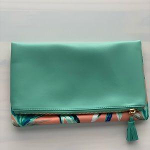 Rachel Pally Reversible Aqua / Floral Clutch